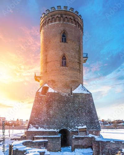 Chindia Tower, built by Vlad the Impaler in Targoviste, Dambovita, Romania Fototapet
