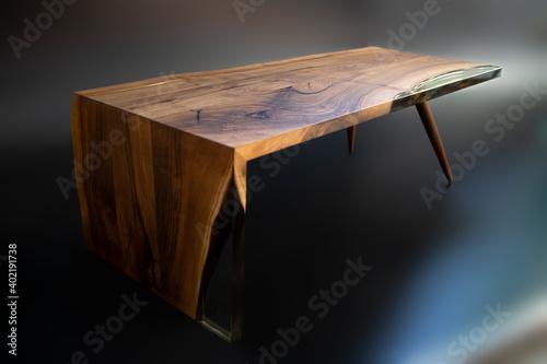 Obraz Modern handmade epoxy resin table - fototapety do salonu