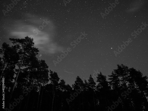 Obraz na plátne Nightsky photography from the Moray Coast and Highland Scotland.