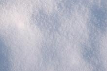 White Fine Snow Surface Texture Background, Winter Background