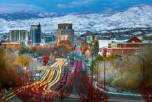 Boise , Idaho Skyline Traffic