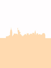 NYC Two Tones Silhouette Poster Created By Filip Dzugan. All Arts Are Created By My Ideas At Free Time.
