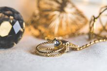 Ring. Golden Rings. Wedding Day. Love Concept. Photo. Golden.