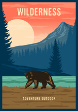Colorful Adventure Outdoor Retro Style Poster