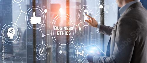 Fotografie, Obraz Business ethics Behavior and manners concept