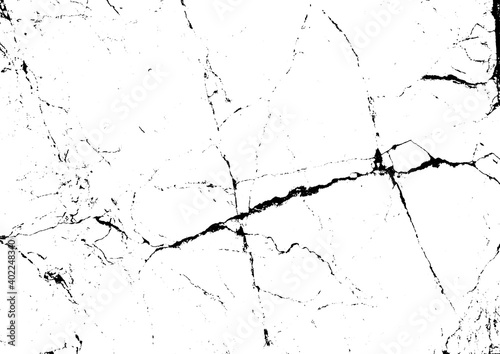 Fototapeta Vector crack grunge urban texture background. obraz