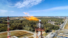 A Burner For Burning Associated Gas At A Petrochemical Plant.