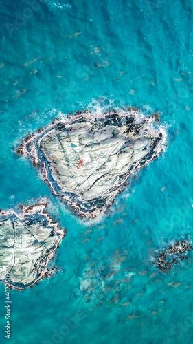 vista aérea de señalización marítima Fotobehang