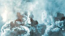 Heavy Contrast Smog Backdrop, Cg Industrial 3D Rendering