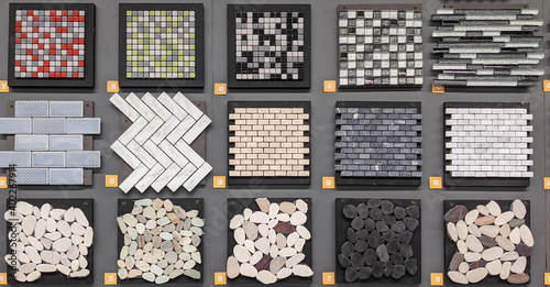 Stampa su Tela samples of many stone pavement wall and floor for sale