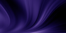 Abstract Blue And Purple Liquid Wavy Shapes Futuristic Banner. Glowing Retro Waves Background
