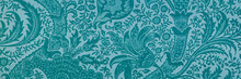 Indian Teal Blue Pattern