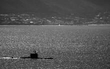 Submarine In The Sea