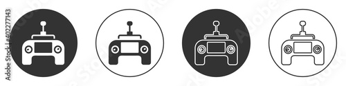 Papel de parede Black Drone radio remote control transmitter icon isolated on white background