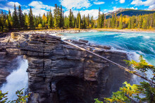 Picturesque Gorge In The Rockies
