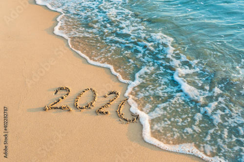 Photos ideas Write on the sand Goodbye 2020 Outdoor nature background