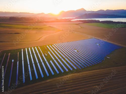 Fotografering Blue solar panels