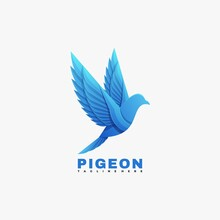 Pigeon Logo Concept Gradient Colorful