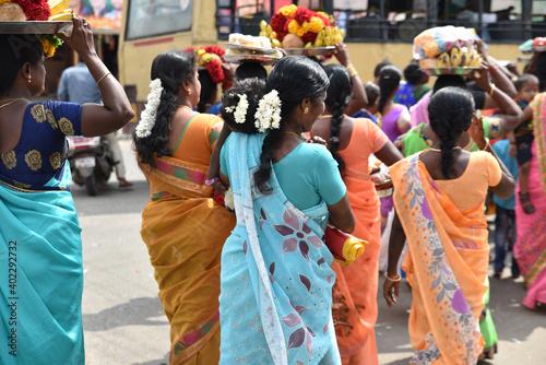 Slika na platnu Fête et offrandes en Inde
