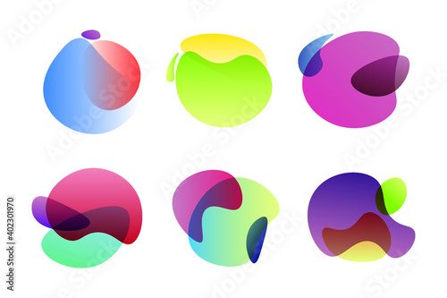 Fototapeta Set of abstract graphic design elements obraz na płótnie