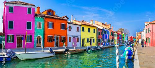 Obraz Traditional fishing town (village) Burano - Island near of Venice. Italy,Veneto  31.10.2020 - fototapety do salonu