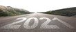 Leinwandbild Motiv Happy New Year Background. Road to 2021.