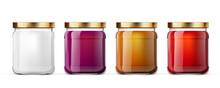 3D Clear Full Glass Jar For Branding