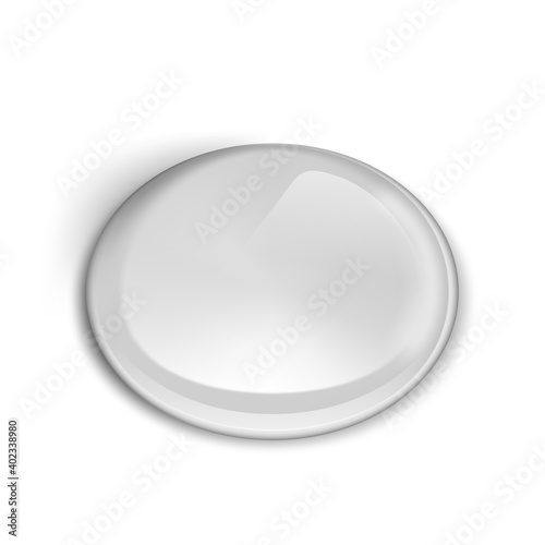 Leinwand Poster Blank Dome Stickers For Branding Or Presentation