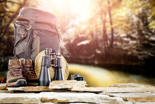 An Expedition Backpack In Beautiful Unknown Landscapes