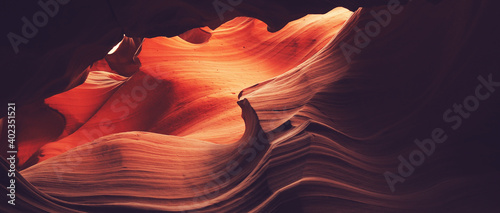 Antelope Canyon, a scenic slot canyon in the American Southwest, on Navajo land east of Page, Arizona.