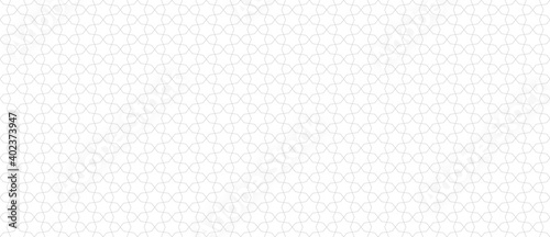 Fototapeta Abstract geometric seamless pattern in traditional Arabian style. Subtle vector ornament with thin lines, oriental mosaic, floral grid. Minimal modern background. Repeat design for decor, wallpaper obraz