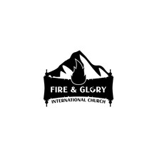 Fire And Glory Church Logo Design Vector