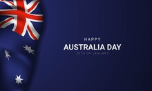 Australia Day Background Design. Vector Illustration.