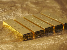 Picture Of Stack Pure 999 Gold Bar For Investment Or Saving