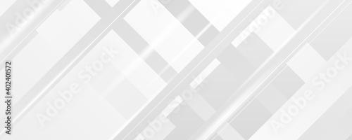 Obraz White grey abstract presentation background with lights - fototapety do salonu