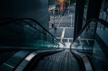 Moving Escalator In The City