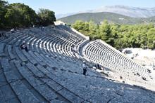 Vista De Los Principales Monumentos Y Sitios De Grecia. Teatro De Epidauro (Epidaurus)