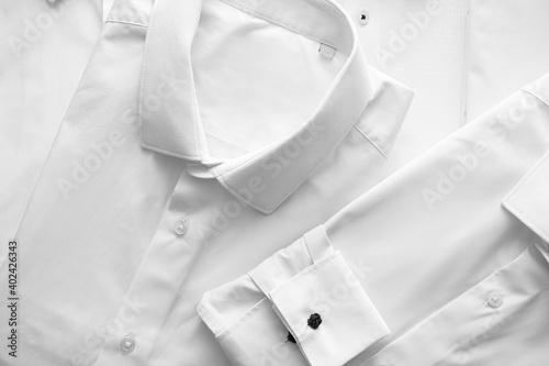 Billede på lærred New classic male shirt, closeup