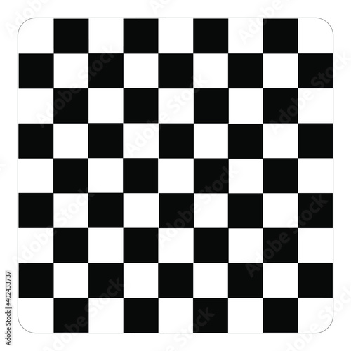 Fotografiet Chess board set isolated on transparent background
