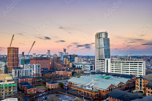 Fototapeta Bridgewater Place and Leeds City Centre. Yorkshire Northern England United Kingdom.  obraz