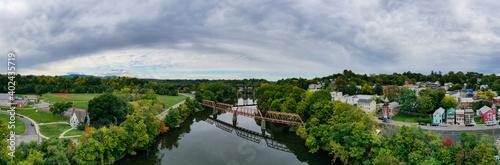 Obraz na plátně Black Bridge - Catskill, New York