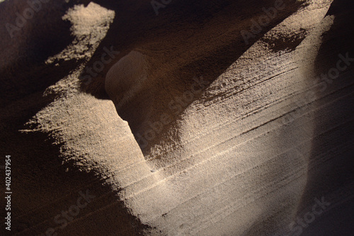 Fotografie, Obraz Gran Canaria, amazing sand stone erosion figures in ravines on Punta de las Aren