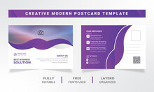 Business Modern Postcard Template Design