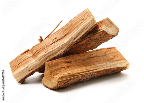 Canvas Print Pile of firewood isolated on a white background
