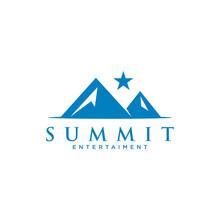 Simple Black Mountain Adventure Logo