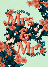 Mrs And Mr Poster Banner