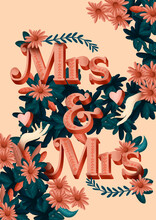 Mrs And Mrs Poster Card Banner