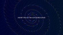 Abstract Spiral Shape Geometric Background