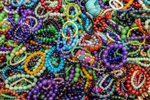 Bracelet Collection Of Women's Necklaces Background.
