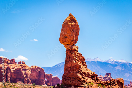 Leinwand Poster Balanced Rock in Arches National Park